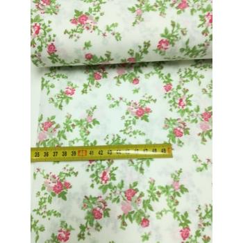 č.3045 květy na bílé