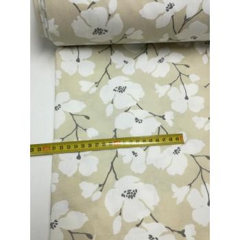 č.1478 květy na béžové