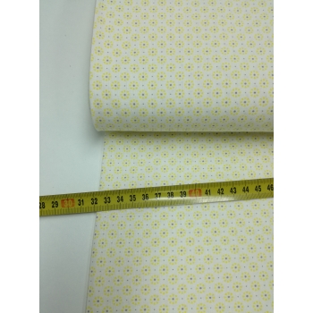 č.1076 žlutý květ s puntíkem