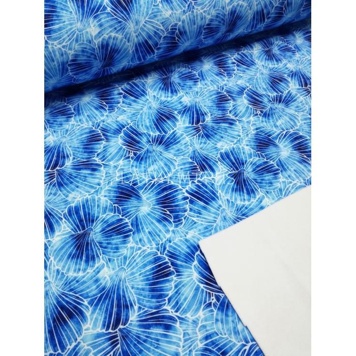 Softshell 136 květy modré