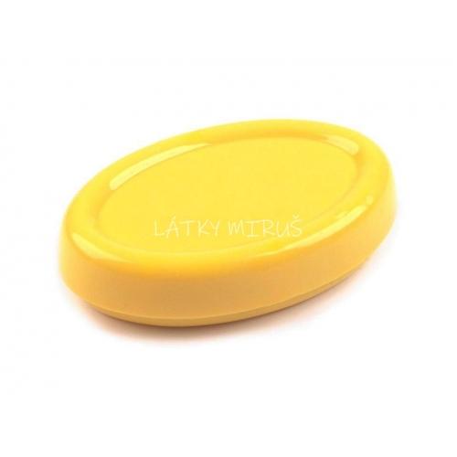 Magnetická miska ovál žlutá