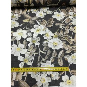 č.5352 šípkový květ na šedé