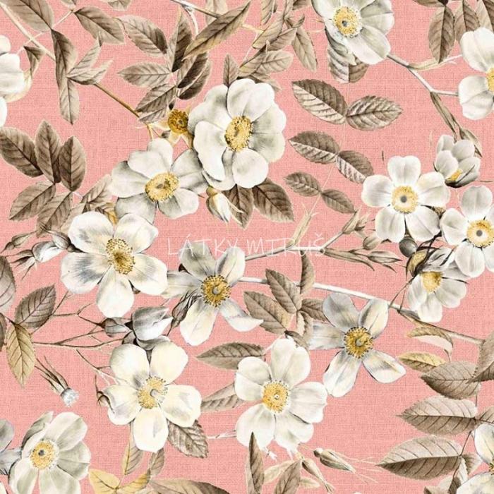 č.5351 šípkový květ na růžové