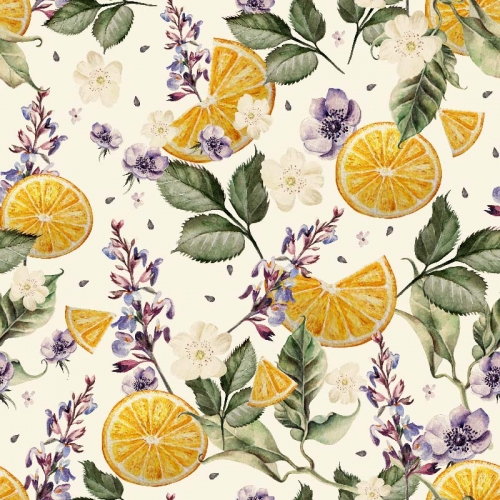 č.5347 plátky pomeranče s květy