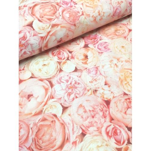 č.5348 růžové květy - směsovka