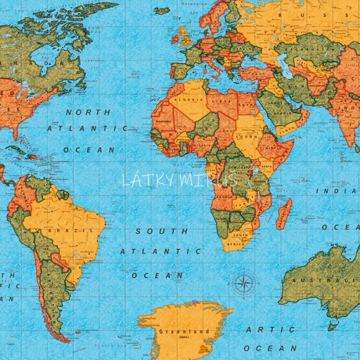 č.5358 mapa světa - směsovka