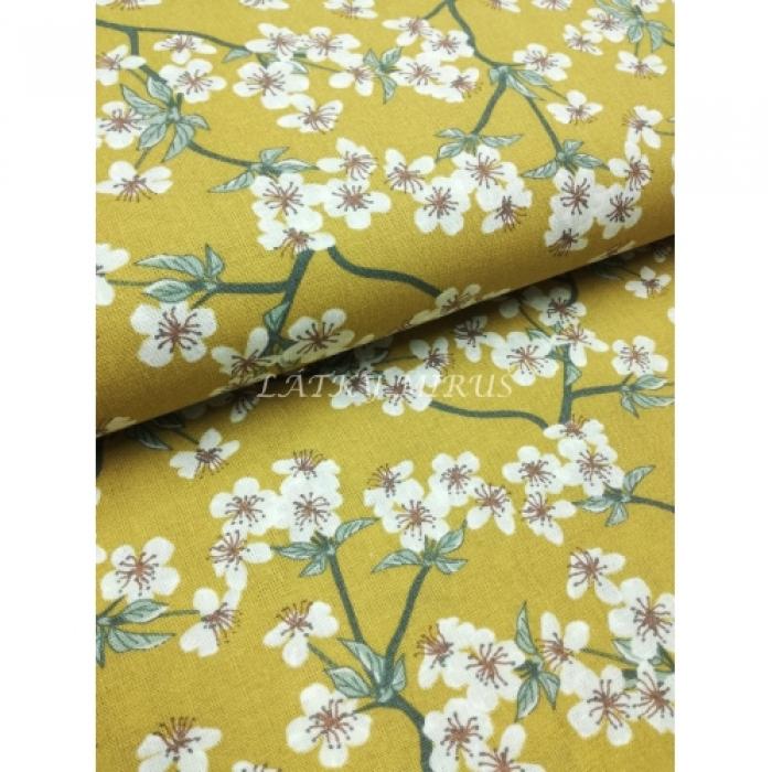 č.3383 květy na okrové
