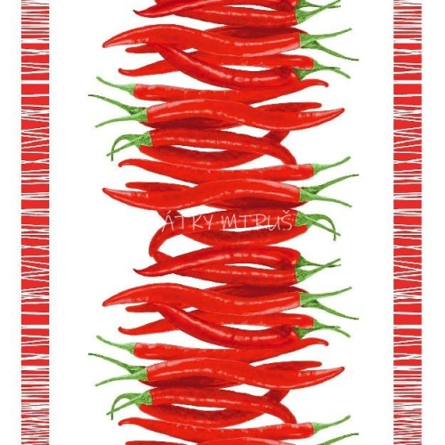 Vafle - utěrkovina chilli papričky