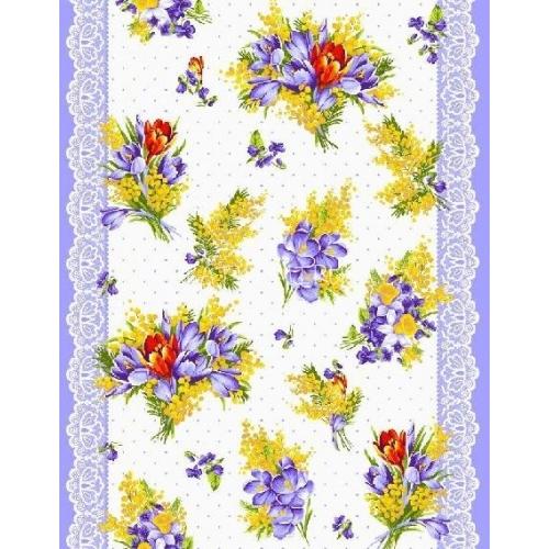 Vafle - utěrkovina jarní květy