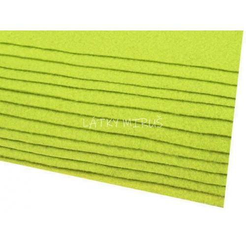 Látková dekorativní plsť - jarní zelená