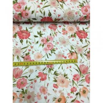 č.1221 jarní květy v korálové