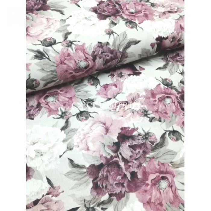 č.7092 květy na šedé..