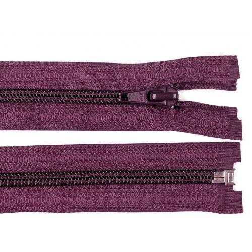 Spirálový zip šíře 5 mm délka 60 cm bundový fialový