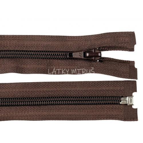 Spirálový zip šíře 5 mm délka 65 cm bundový hnědý