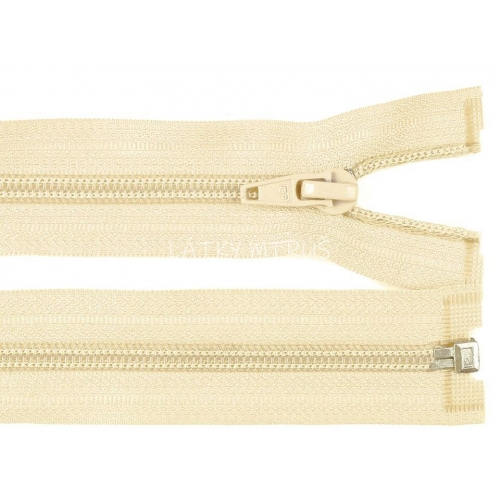 Spirálový zip šíře 5 mm délka 65 cm bundový smetanový