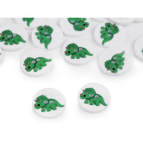 Knoflík 104 dino zelený