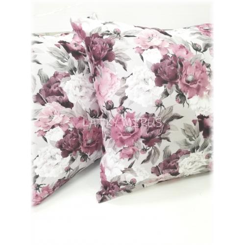 Povlak 40x40 fialové květy