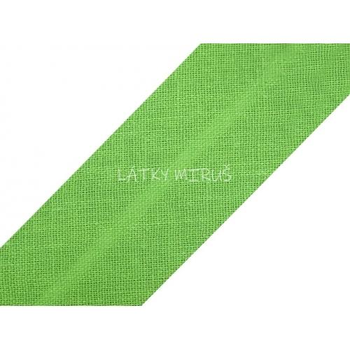 Šikmý proužek 30mm - zelený