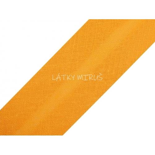 Šikmý proužek 20mm - oranžová