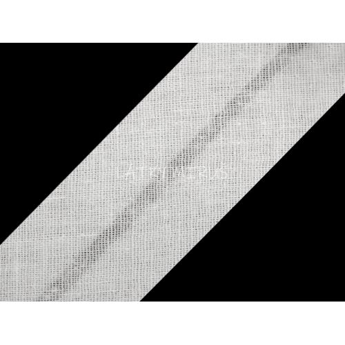 Šikmý proužek 20mm - bílá