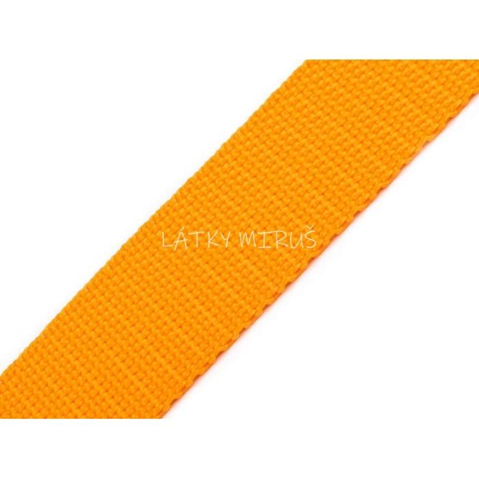 Popruh 30mm oranžovožlutá
