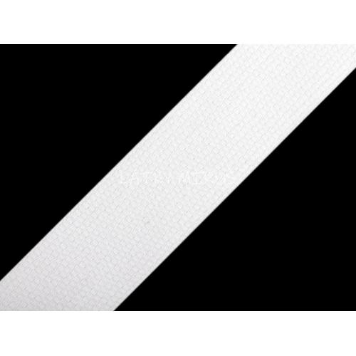 Bavlněný popruh 25mm bílá