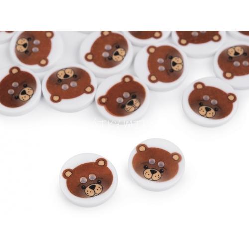Knoflík 302 medvěd