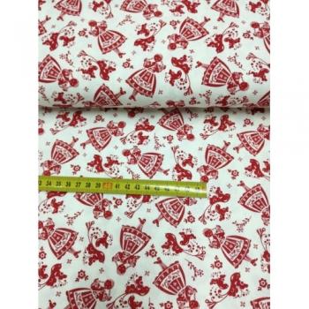 č.6351 panenky folklor červené.