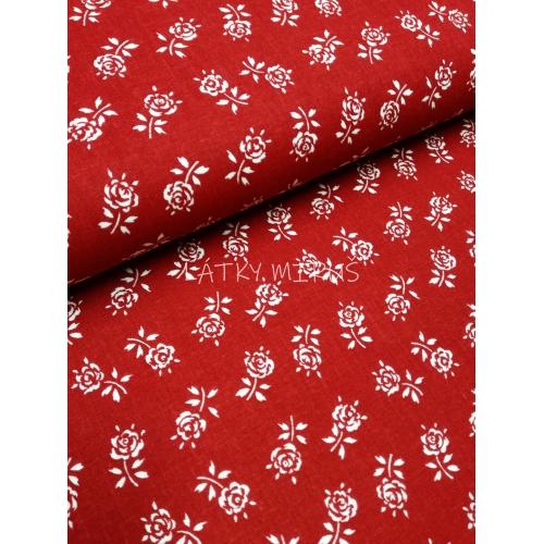 č.5731 růžičky na červené