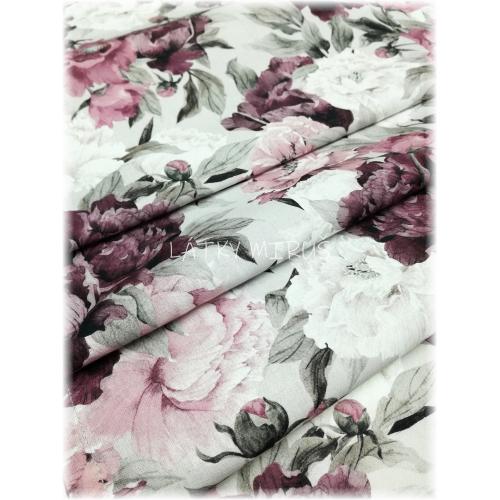 Ubrus 150x45 květy fialové