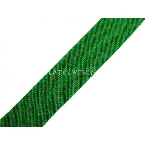 Šikmý proužek 14mm - zelená pastelová