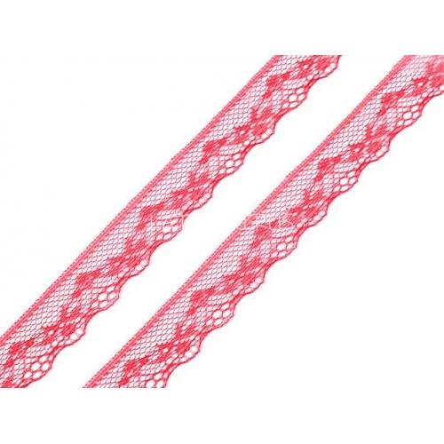 Silonová krajka - korálová 180997