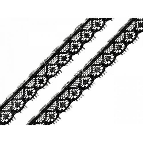 Silonová krajka - černá 170857