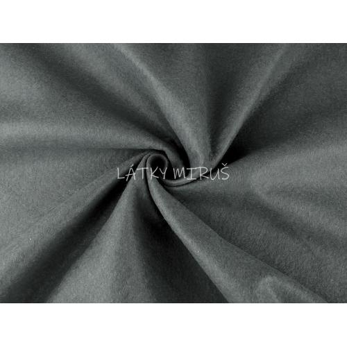 Filc / plsť metráž šedá - 380616