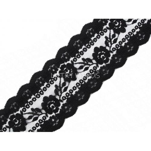 Silonová krajka - černá 170575
