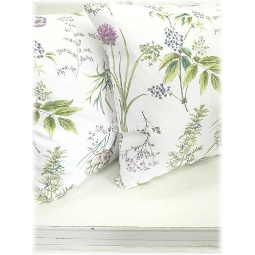 Povlak 45x45 byliny na bílé