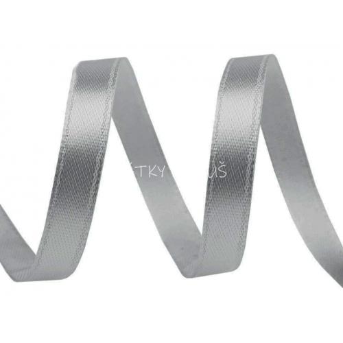 Atlasová stuha 6mm - šedá (1m)