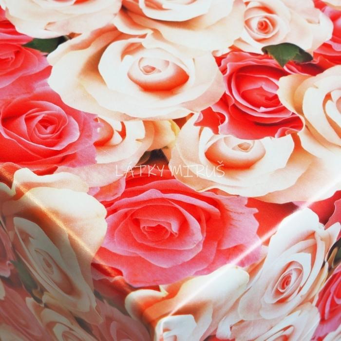 PVC ubrusovina - Růže