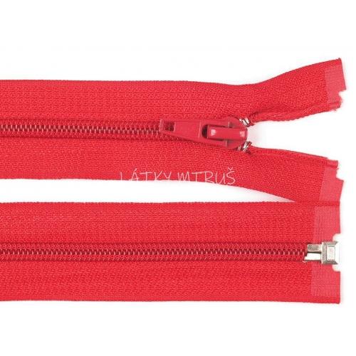 Spirálový zip šíře 5 mm délka 75 cm bundový červený