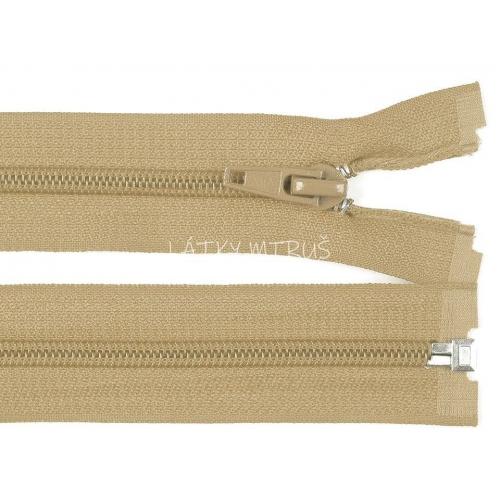 Spirálový zip šíře 5 mm délka 75 cm bundový béžový