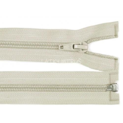 Spirálový zip šíře 5 mm délka 80 cm bundový šedý sv.