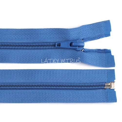 Spirálový zip šíře 5 mm délka 80 cm bundový modrý