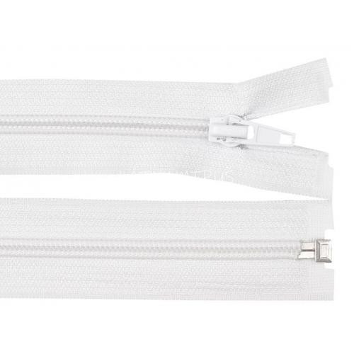 Spirálový zip šíře 5 mm délka 80 cm bundový bílý