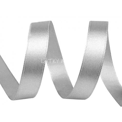 Stuha atlasová 10mm - šedá