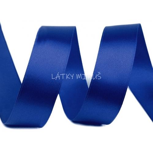 Stuha atlasová 25mm - modrá safír