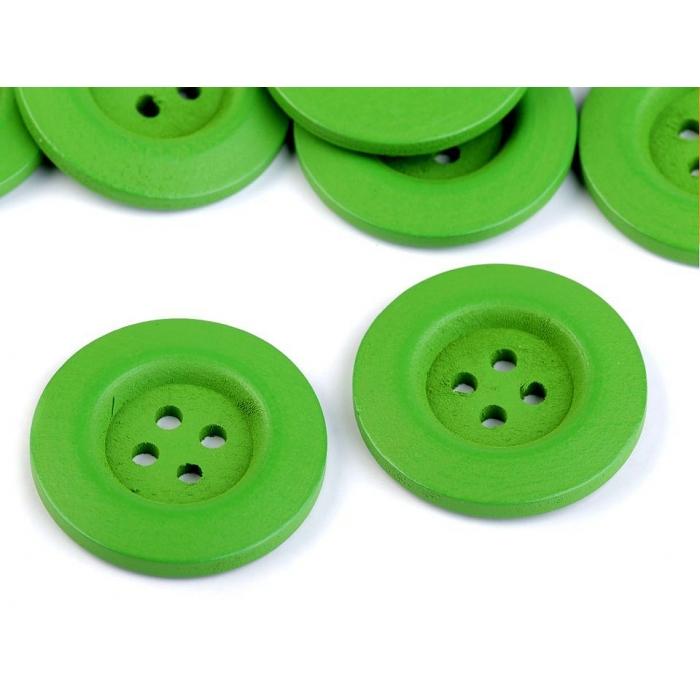 Knoflík 2 zelený kulatý