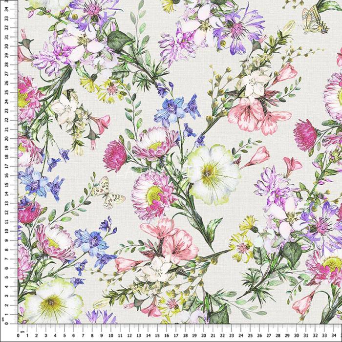 č.5336 luční květy - dekorační