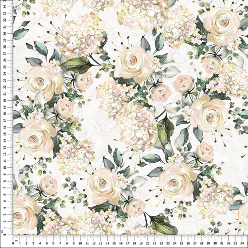 č.1613 růže vanilkové - dekorační