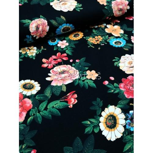 č.870 úplet - růže na černé