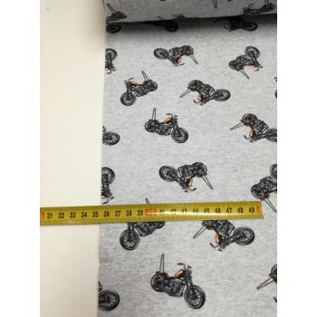 č.875 teplákovina počesaná - motorky